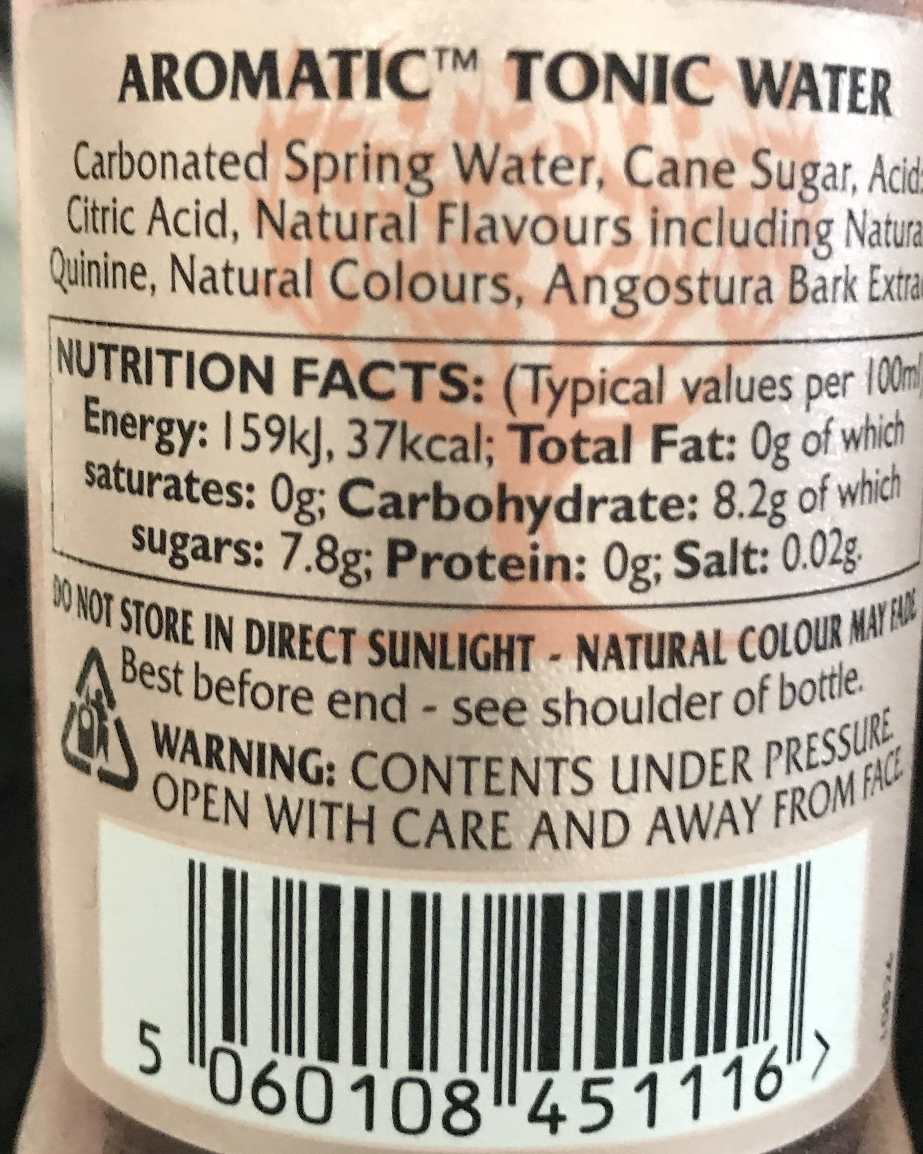 Fever - Tree Aromatic Tonic Water - Ingredients - fr