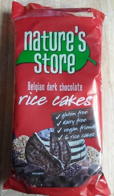 Belgian dark chocolate rice cakes - Produit