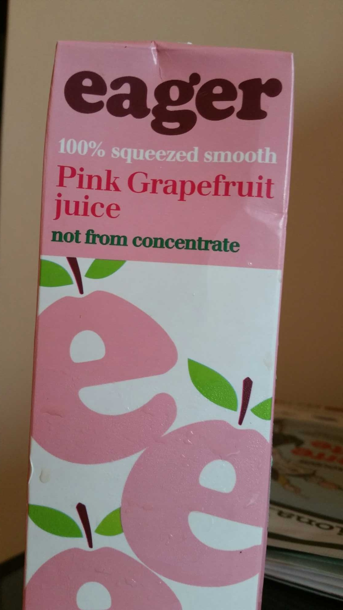 Eager pink grapefruit juice - Product