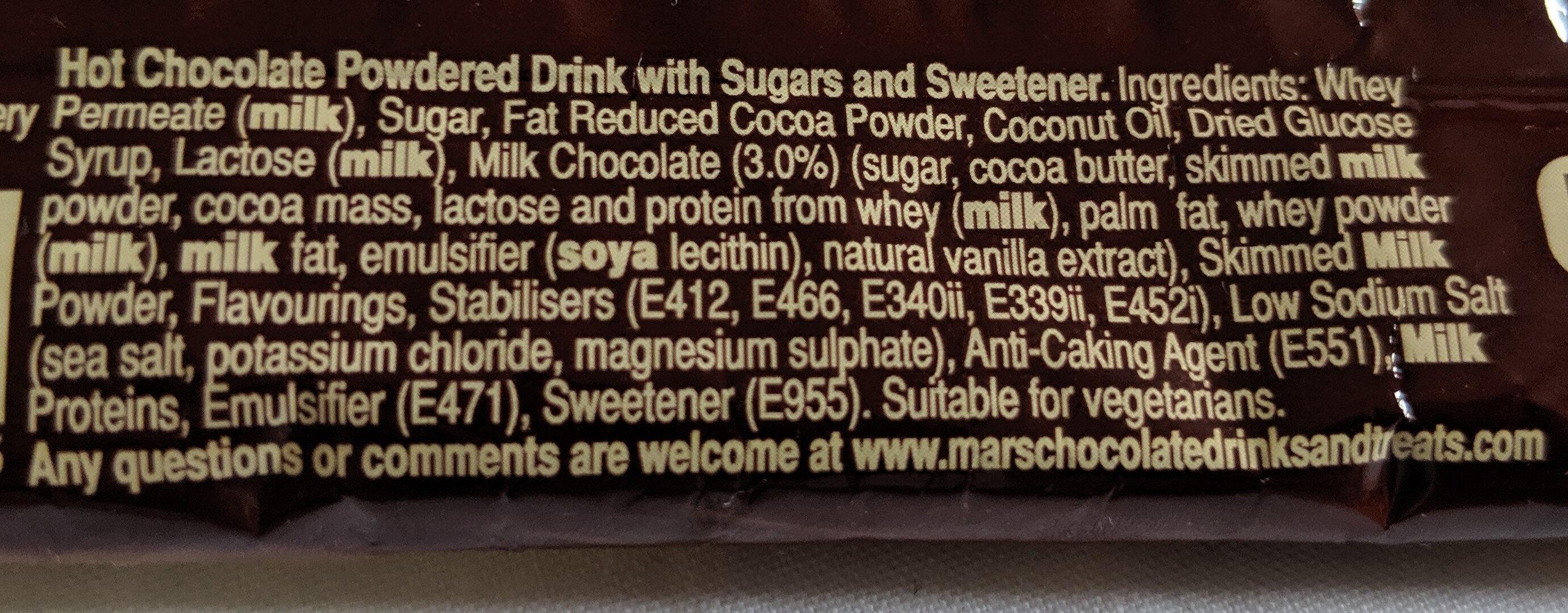 Galaxy Instant Hot Chocolate - Ingredients - en