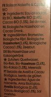 Chocolate hazelnut drink - Ingredients - fr