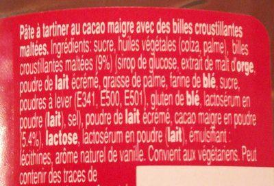 Pâte à tartiner Maltesers - Ingredienti - fr