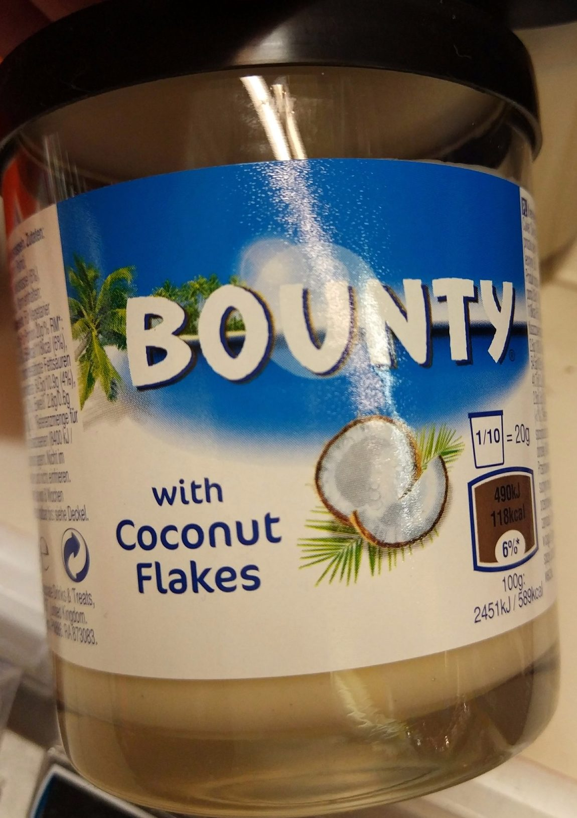 Bounty Chocolate Spread With Coconut Flakes - Produkt