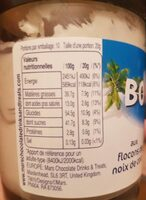 Milk Spread with Coconut Flakes - Nutrition facts - fr