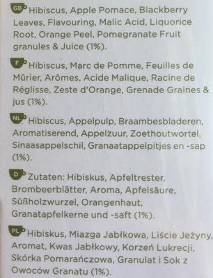 Pomegrenate - Ingrediënten - en