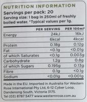 Pomegrenate - Voedingswaarden - en