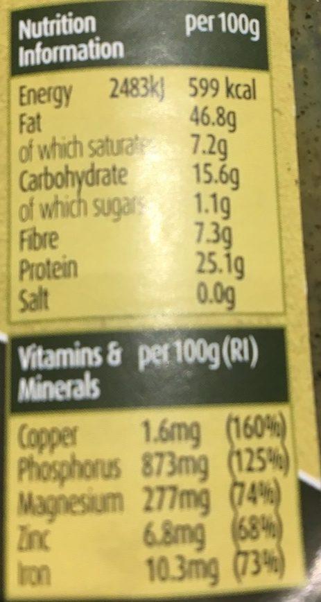 Beurre de Graines de Courge Bio - Nutrition facts