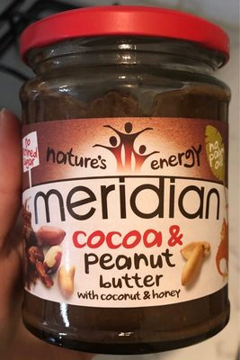 Meridian Cocoa & Peanut Butter With Coconut & Honey - Prodotto - fr