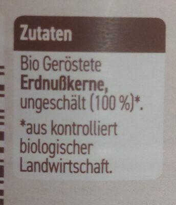Erdnusscreme - Zutaten - de