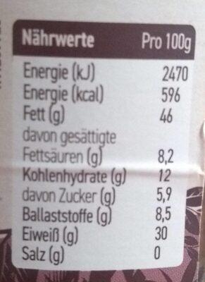 Erdnusscreme - Nährwertangaben - de