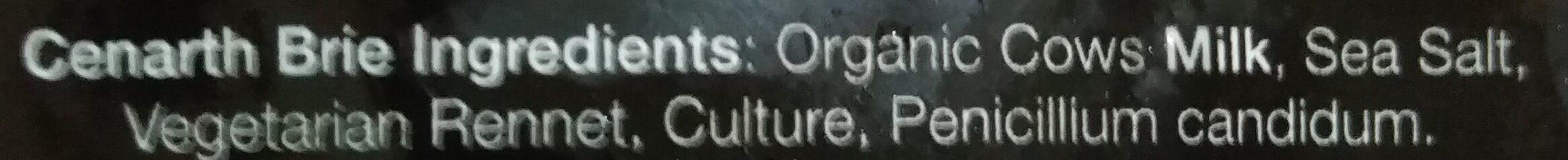 Organic Cenarth Brie - Ingredients - en