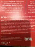 Higgidy Spinach,Feta & Roasted Pepper Quiche 400G - Ingredienti - en