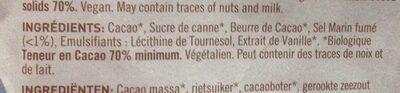 Chokolade MøRK 70% Cornish Sea Salt Ø - 85 GR - Naturesource - Ingrediënten