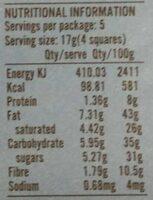 Chokolade MøRK 70% Cornish Sea Salt Ø - 85 GR - Naturesource - Nutrition facts - fr