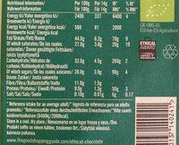 Chocolate negro con menta ecológico producto vegano - Voedingswaarden - en