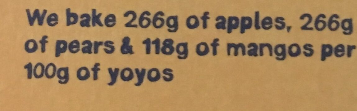 Yoyo Mango - Ingredients - fr