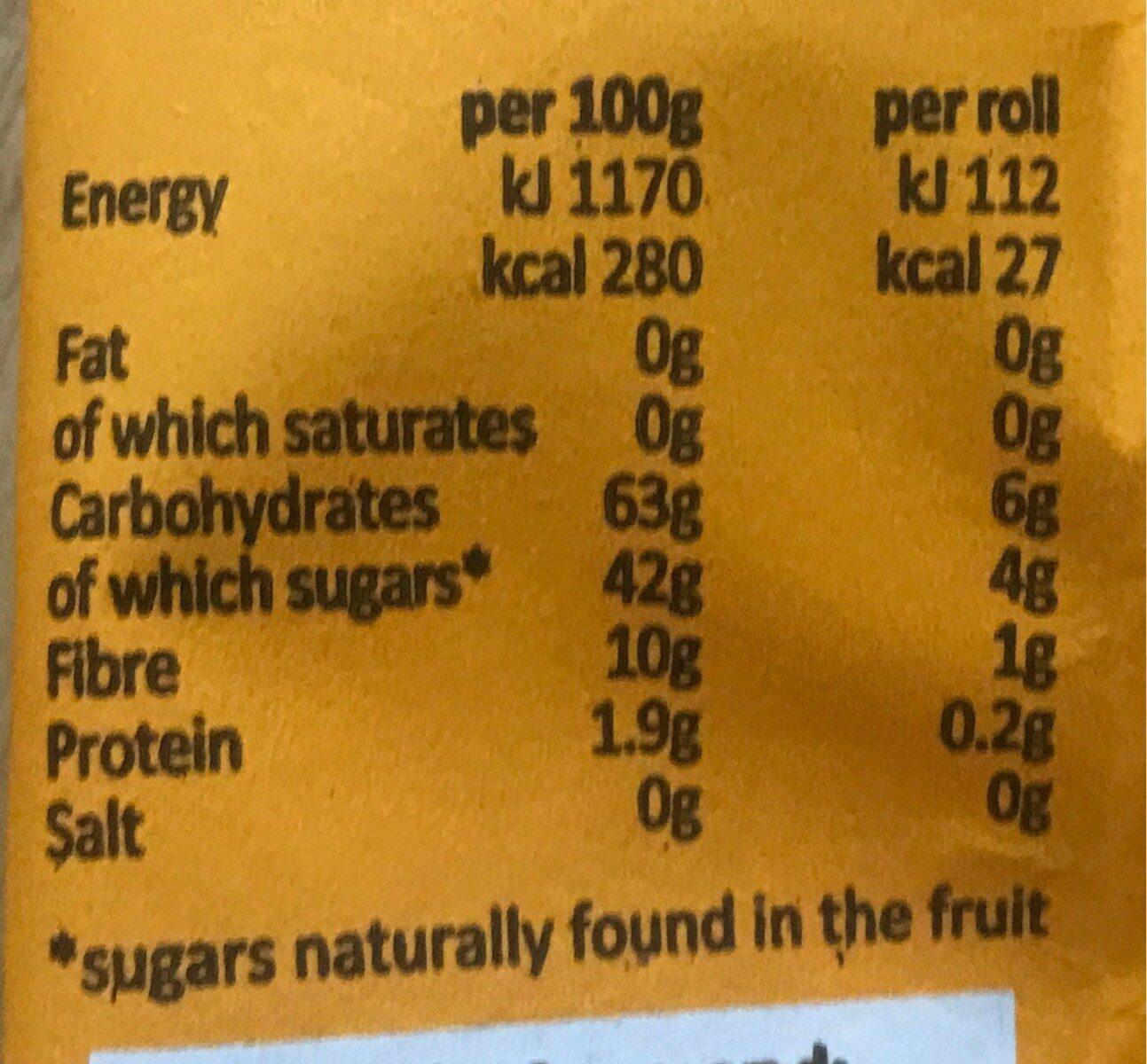 Yoyo Mango - Nutrition facts - fr