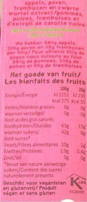 Yoyo Framboise - Voedingswaarden - fr