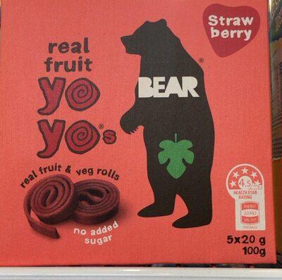 Real Fruit Yo Yos - Strawberry - Product