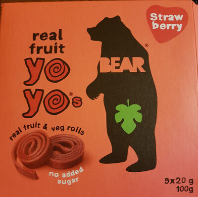 Real Fruit Yo Yos - Strawberry - Product - en