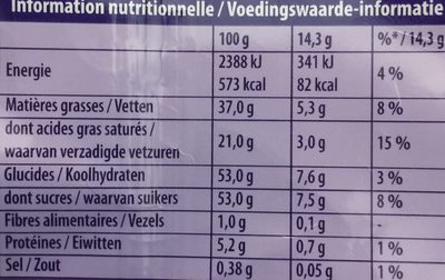 Sweet Potato - Informations nutritionnelles - fr