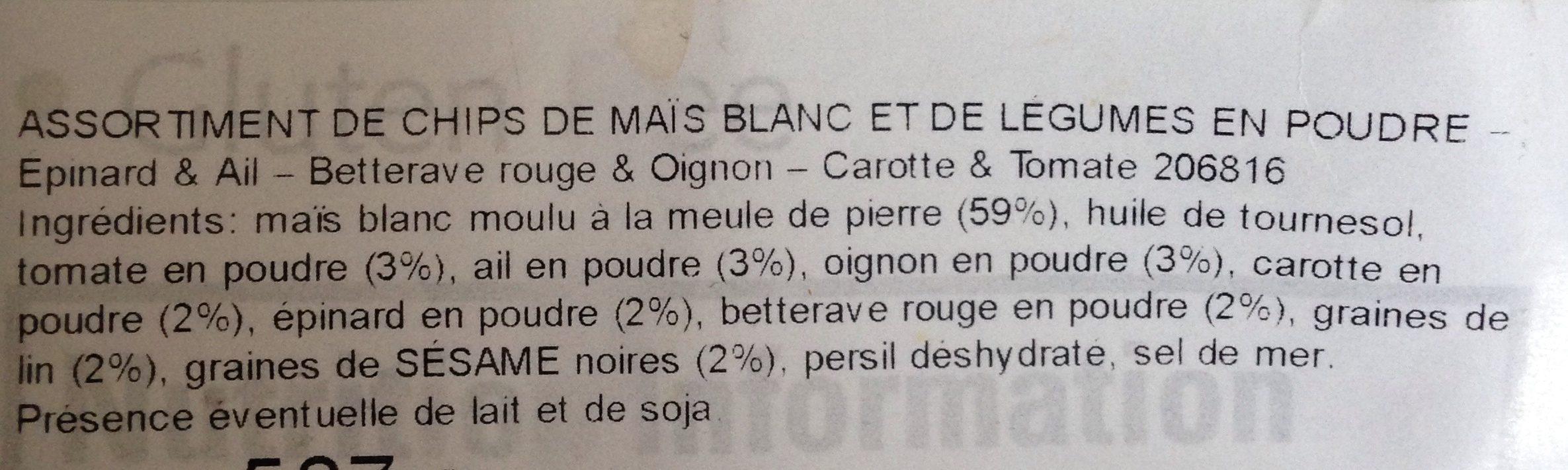 Dippers - Ingrediënten - fr