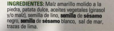 Batata CRACKERS - Ingrediënten - es