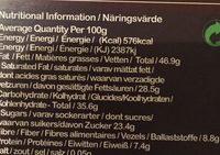 Conscious Intense 75% - Ingrediënten