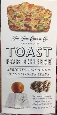 Toast for cheese apricots, pistachios & sunflower seeds - Product - en