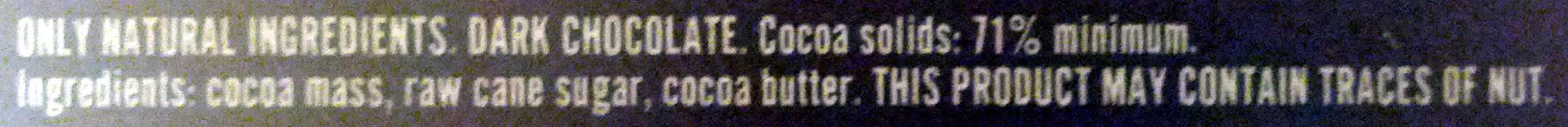 Willie's cacao - Ingredients
