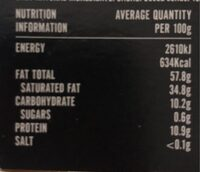 Willies Cacao - Nutrition facts - en