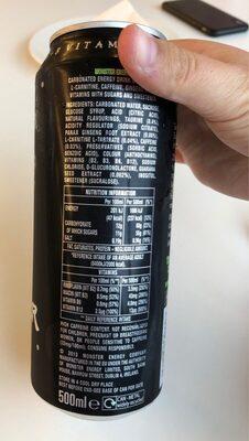 Monster Energy 500ml - Informations nutritionnelles