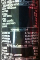 Lo-cal Monster Energy - Informations nutritionnelles - fr