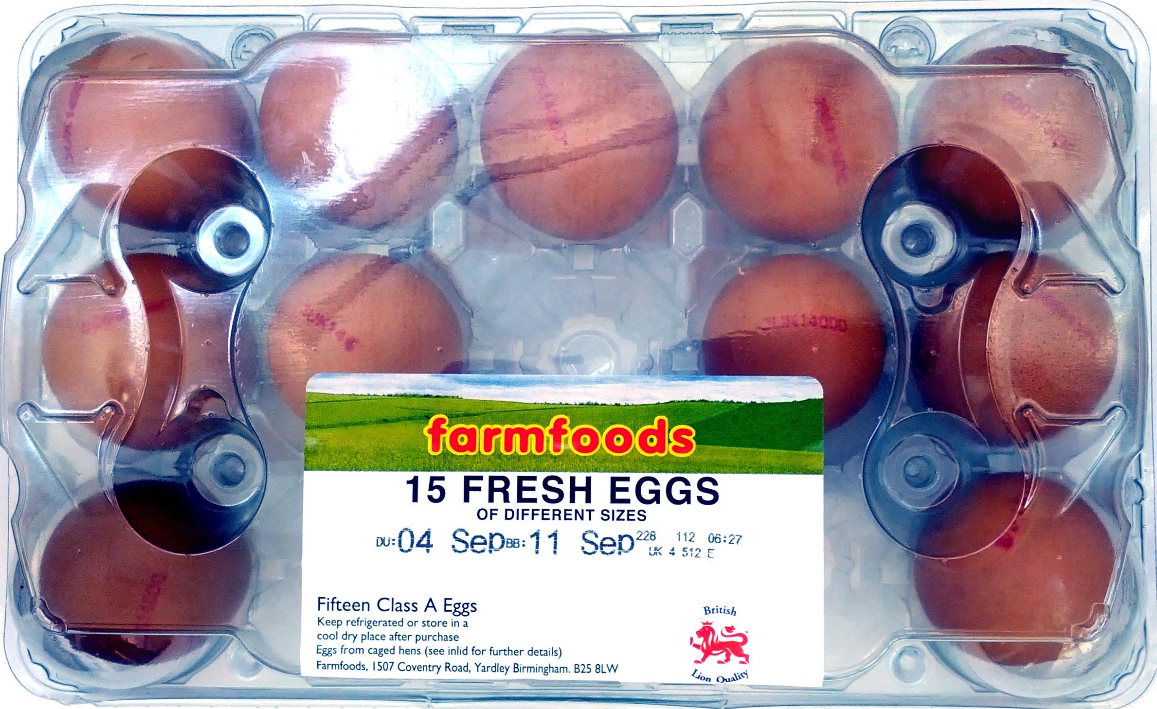 15 fresh eggs - Product - en