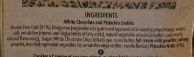 White Chocolate & Pistachio Cookie - Ingredients