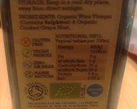 Bulk Deal 12 X Mr Organic Balsamic Vinegar of Modena Igp - Ingrédients - fr