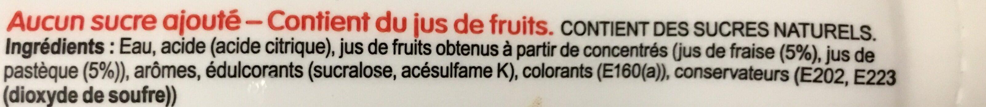 Go Squeezy strawberry & watermelon - Ingrediënten - fr