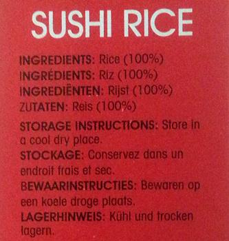 Sushi Rice - Ingredients - fr