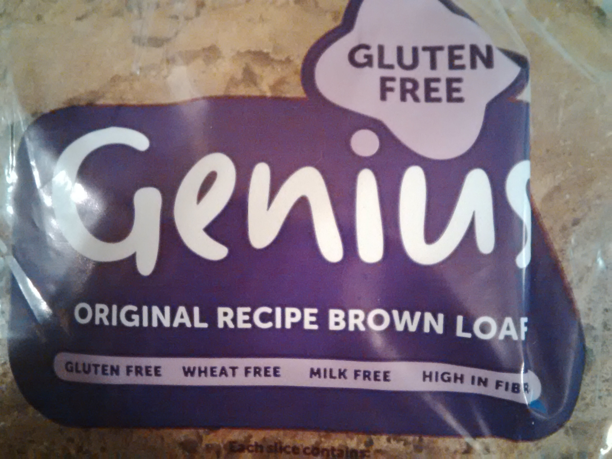 Genius Gluten Free Brown Loaf - Product