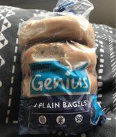 Genius Gluten Free Plain Bagels X4 - Product - en