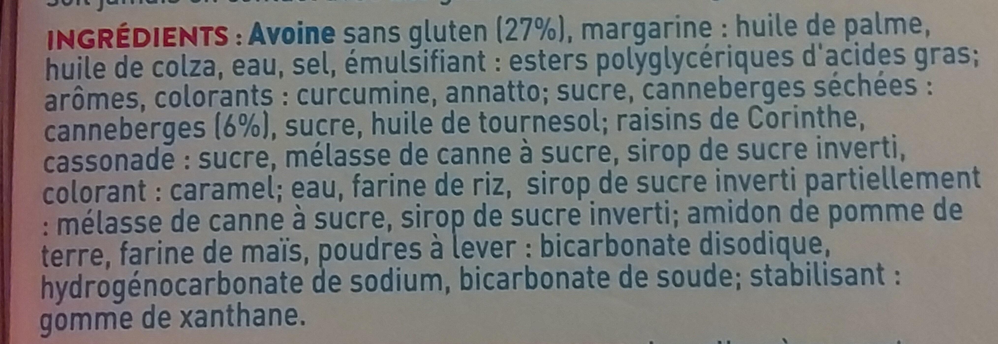 Biscuits p'tit dej fruits rouges - Ingredients