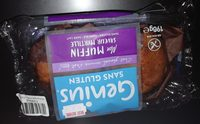Muffin saveur myrtille - Produit - fr