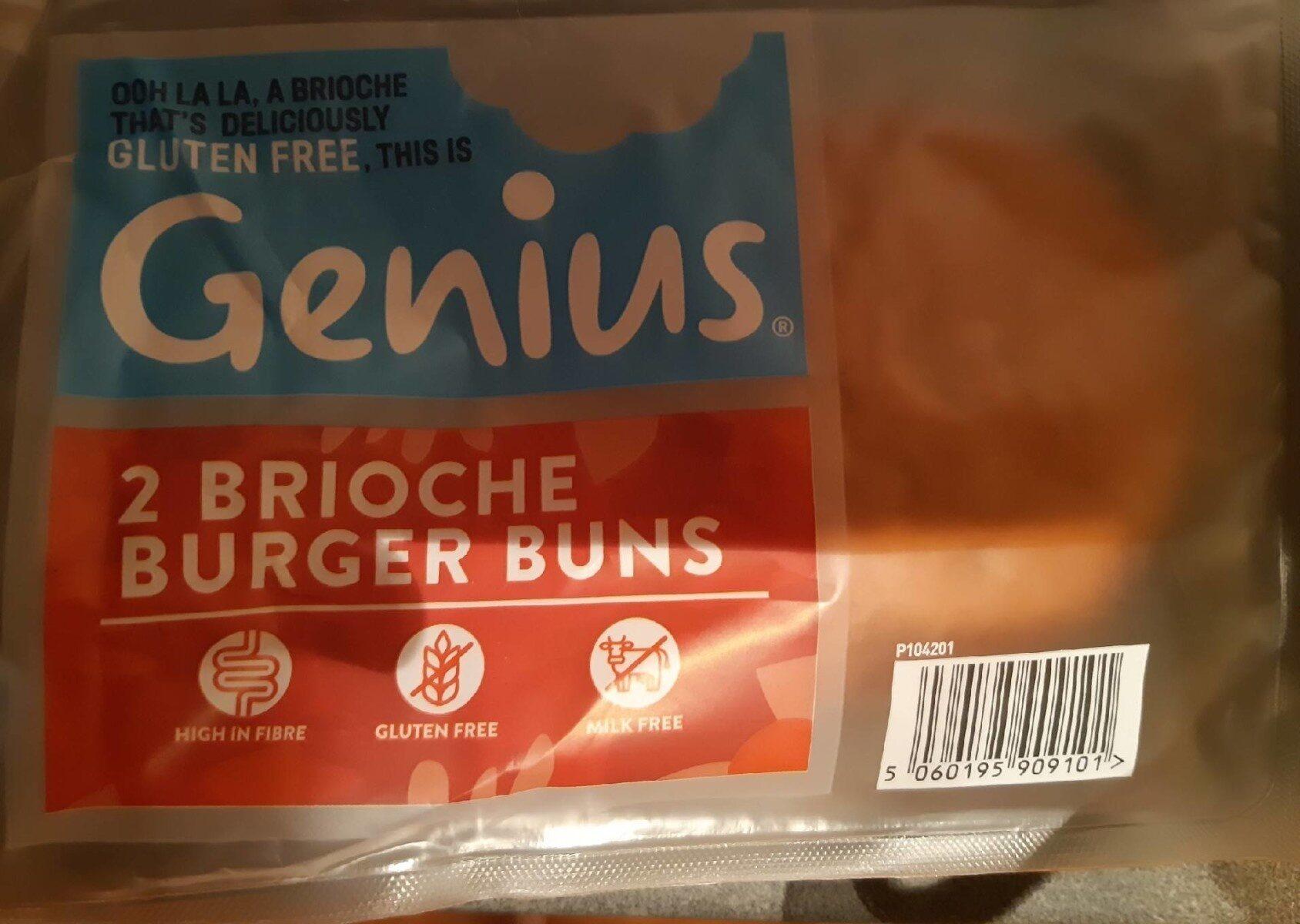 2 Brioche Burger Buns - Product - en
