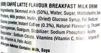 Protein breakfast milk drink - Ingrédients - en