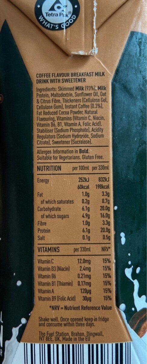 Protein breakfast milk drink - Informations nutritionnelles - en