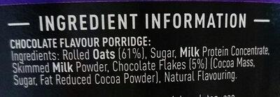 High Protein Porridge Chocolate - Ingredients - en