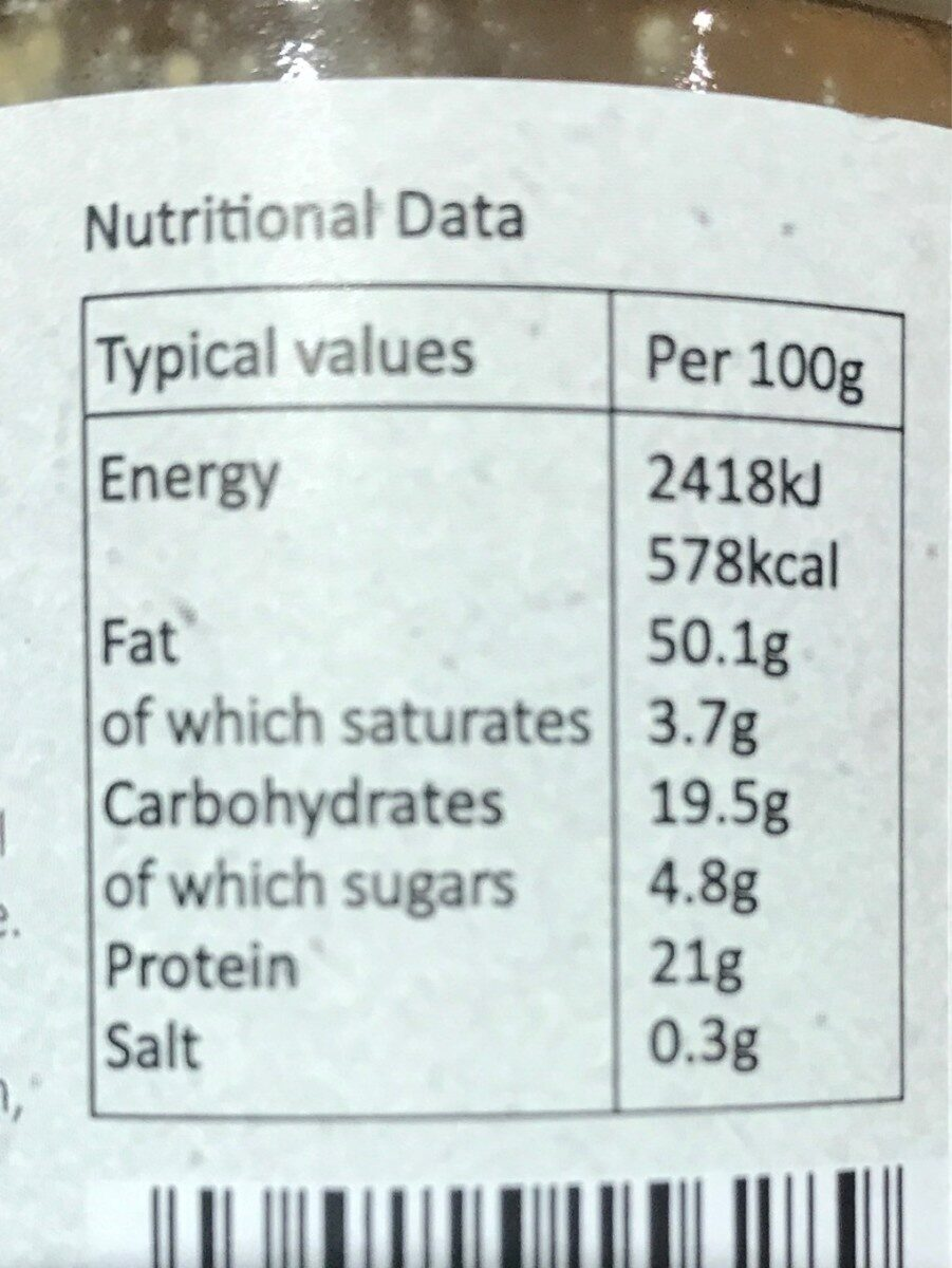 Almond butter - Nutrition facts