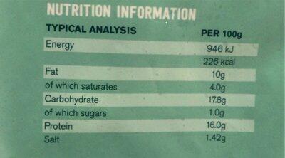 Popcorn chicken - Nutrition facts - en