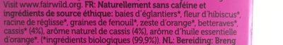 Infusion Secret De Cassis Bio - 20 Sachets - Pukka - Ingredienti - fr
