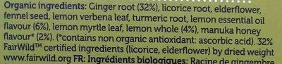 lemon, ginger & manuka honey - Ingrediënten